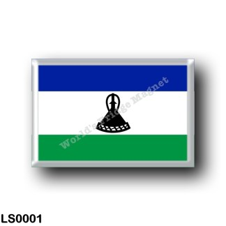 LS0001 Africa - Lesotho - Flag