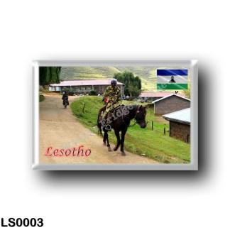LS0003 Africa - Lesotho - Basotho blanket