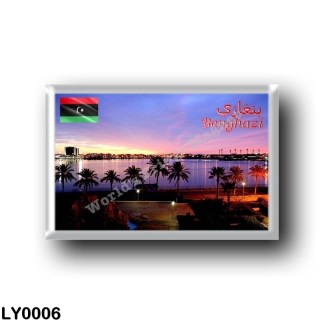 LY0006 Africa - Libya - Benghazi Panorama by Night