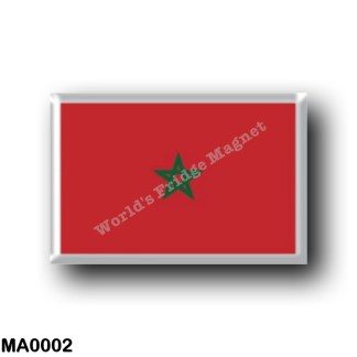 MA0002 Africa - Marocco - Moroccan flag