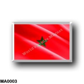 MA0003 Africa - Marocco - Moroccan flag - waving