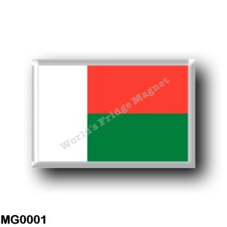 MG0001 Africa - Madagascar - Flag