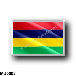 MU0002 Africa - Mauritius - Flag Waving