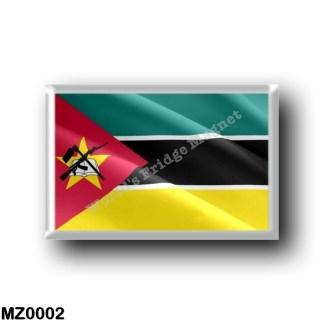 MZ0002 Africa - Mozambique - Flag Waving