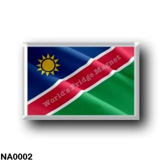 NA0002 Africa - Namibia - Flag Waving