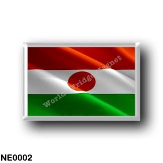NE0002 Africa - the Niger - Flag Waving