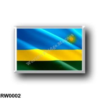 RW0002 Africa - Rwanda - Flag Waving