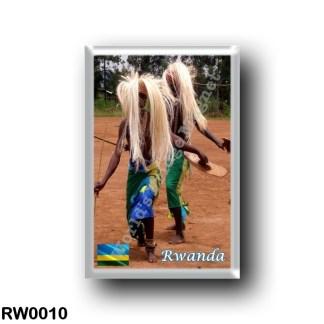 RW0010 Africa - Rwanda - Traditional Rwandan intore dancers