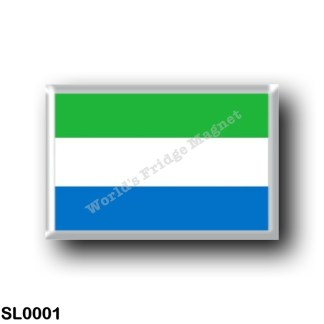 SL0001 Africa - Sierra Leone - Flag