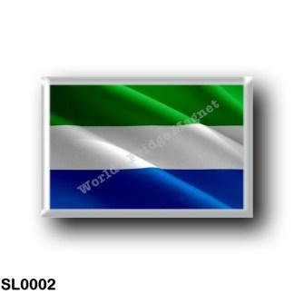 SL0002 Africa - Sierra Leone - Flag Waving