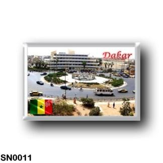 SN0011 Africa - Senegal - Rond point jet d'eau sicap