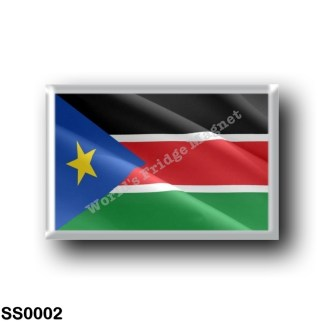 SS0002 Africa - South Sudan - Flag Waving