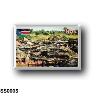 SS0005 Africa - South Sudan - Wau - Huts outside