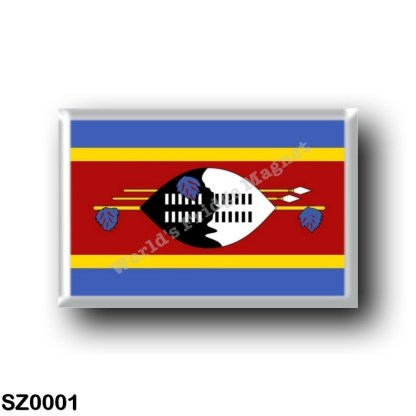 SZ0001 Africa - Swaziland - Flag