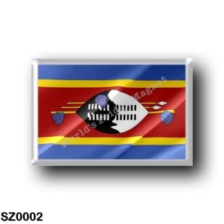 SZ0002 Africa - Swaziland - Flag Waving