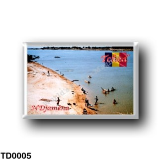 TD0005 Africa - Chad - Plage de la rivière Chari à N'Djaména