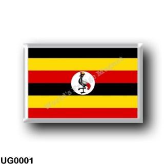 UG0001 Africa - Uganda - Flag Uganda