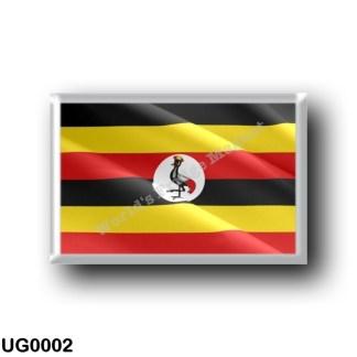 UG0002 Africa - Uganda - Flag Waving