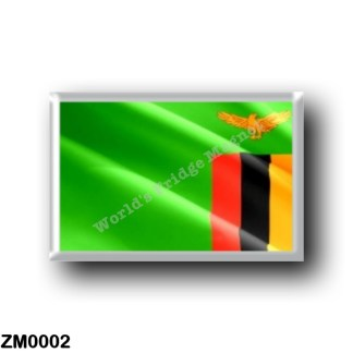 ZM0002 Africa - Zambia - Zambian Flag - Waving