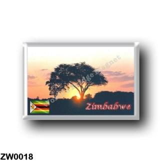 ZW0018 Africa - Zimbabwe - Hwange sunset