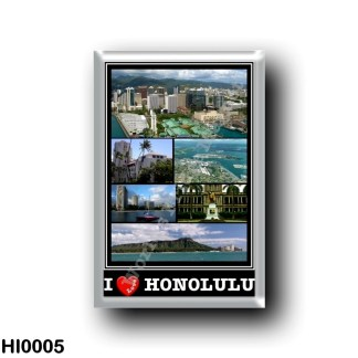 HI0005 Oceania - Hawaii - Honolulu - I Love