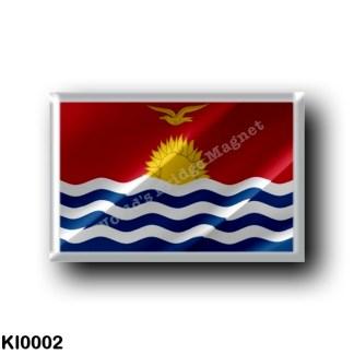 KI0002 Oceania - Kiribati - Flag Waving