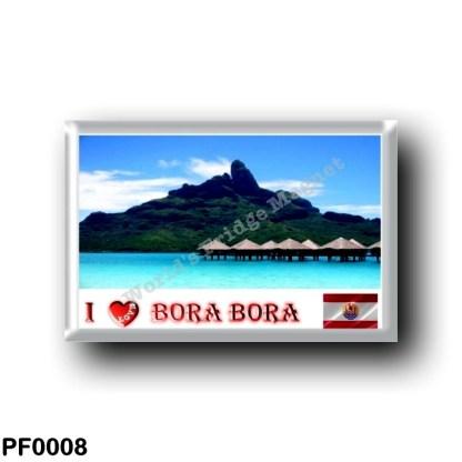 PF0008 Oceania - French Polynesia - Bora Bora - Le Mont Otemanu - I Love