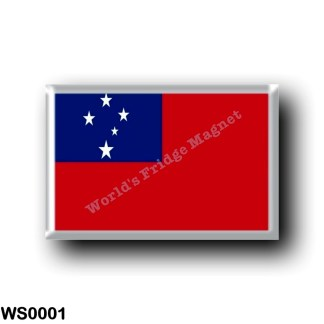 WS0001 Oceania - Samoa - Flag