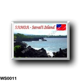 WS0011 Oceania - Samoa - Savai'i Island - Volcanic Coasline