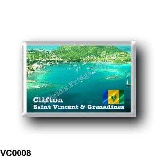 VC0008 America - Saint Vincent and the Grenadines - Clifton Aerial View