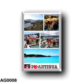 AG0008 America - Antigua and Barbuda - Antigua - I Love