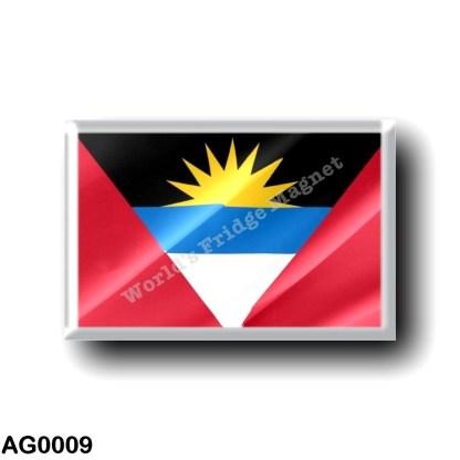 AG0009 America - Antigua and Barbuda - waving - flag