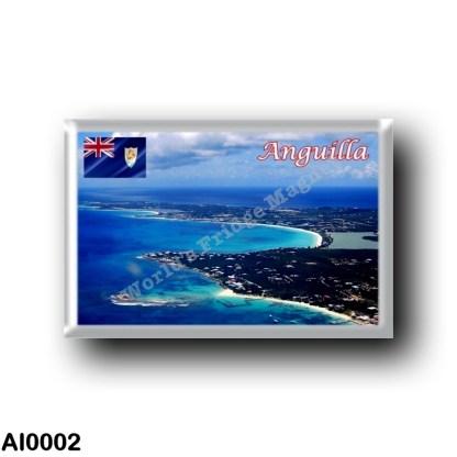 AI0002 America - Anguilla - Aerial View Western Portion