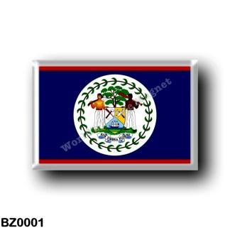 BZ0001 America - Belize - Flag