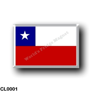 CL0001 America - Chile - Chilean flag