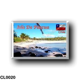 CL0020 America - Chile - Isla De Pascua - Playa de Anakena