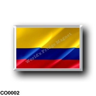 CO0002 America - Colombia - Colombian flag - waving