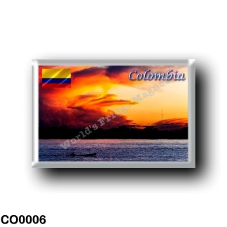 CO0006 America - Colombia - Sunset on the Amazon