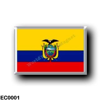EC0001 America - Ecuador - Ecuadorian flag
