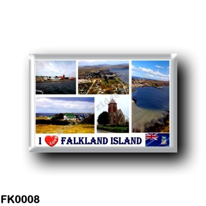 FK0008 America - Falkland Islands - Port Stanley - I Love