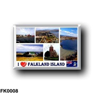 FK0008 America - Falkland Islands - Port Stanley - I Love