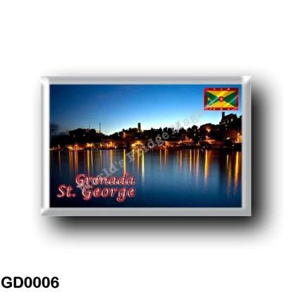 GD0006 America - Grenada - Saint George By Night
