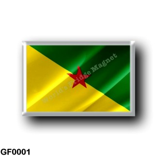 GF0001 America - French Guiana - Flag Waving