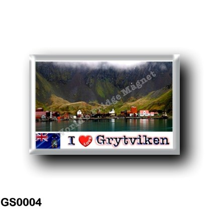 GS0004 America - South Georgia and the South Sandwich Islands - Grytviken Panorama - I Love
