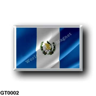 GT0002 America - Guatemala - flag Waving