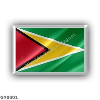 GY0001 America - Guyana - Flag Waving