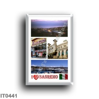 IT0441 Europe - Italy - Liguria - Sanremo - mosaic - I Love