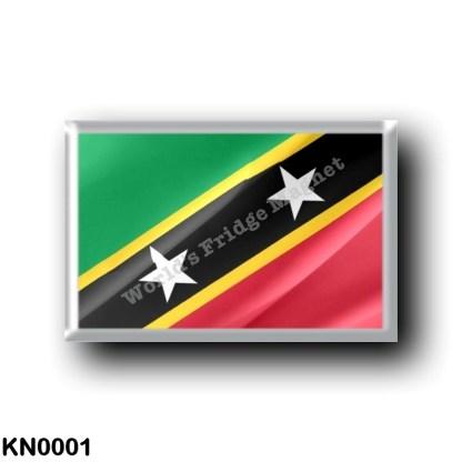 KN0001 America - Saint Kitts and Nevis - Flag Waving