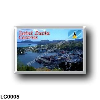LC0005 America - Saint Lucia - Castries - View