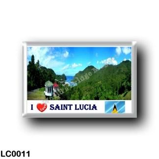 LC0011 America - Saint Lucia - Marigot Bay - I Love